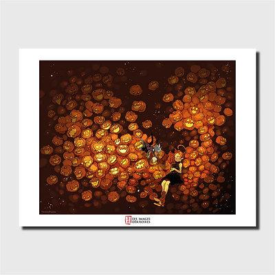 Affiche d'art - Pumpkin Sleep