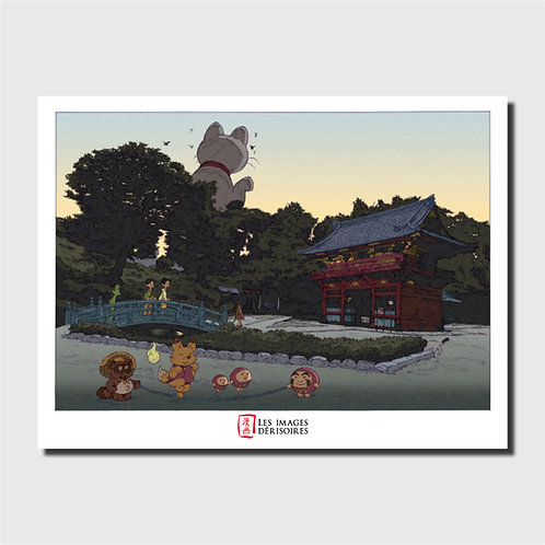 Art print - The 100 views of Tokyo