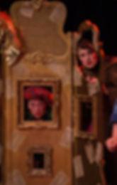 The Suggestibles Impro Pantso, Rachel Glover, Tom Walton at Alnwick Playhouse. Photo by Joe Haydon.