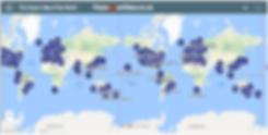 Improv map of the world. Improv world map