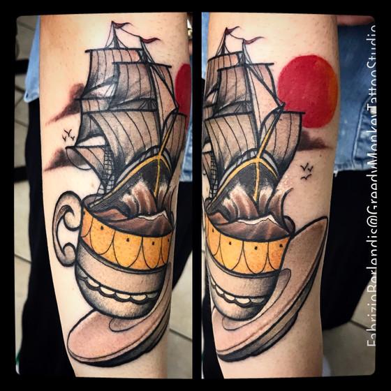 Fabrizio Berlendis, Tatuaggi Sirmione, Tatuaggi Brescia, Tatuatori Brescia, Tatuatori Italiani, Greedy Monkey, Tatuaggi Desenzano, Traditional