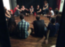 School of Improv Workshop Group with teacher Bev Fox in Sicily.jpg