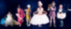 The Suggestibles Impro Pantso Cast of Characters LtoR Rachel Glover, Tom Walton, Alex Ross, Ian McLaughlin, Carl Kennedy, Bev Fox.jpg