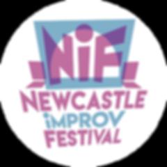Newcastle Improv Festival 2020. logo. circle. small.