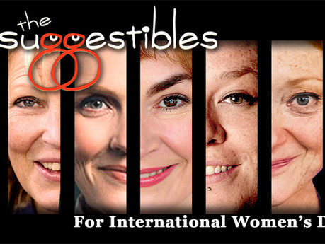 The Suggestibles Light-up for International Women's Day. Saturday 6 March @ 8pm. Watch Live or Later