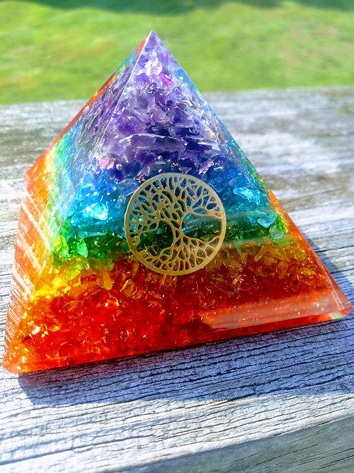 Chakra Orgone Pyramid 70mm (New)