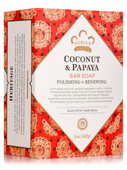 Nubian Coconut & Papaya Bar Soap