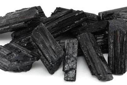 1 lb Black Tourmaline Untumbled Stones