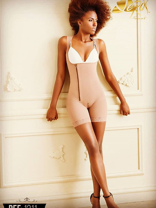 Powernet girdle zipper at side long thigh back cover