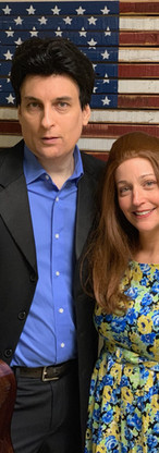 Thomas Michael Cavanagh and Donna Domingo as Johnny Cash and June Carter