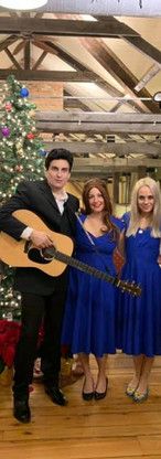 Performing at Laurrita in NJ for the annual Christmas show