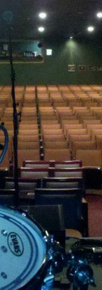 The great Sellersville Theater right before doors opened. View from behind the drums of the beautiful theater.