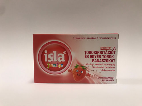 Isla-Junior torokpasztilla 20x