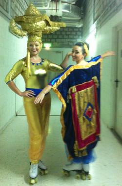 Aladdin roller-skating costumes
