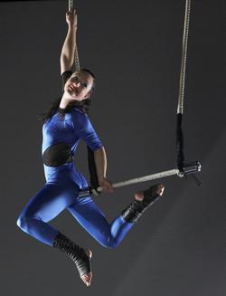 Blue aerial costume