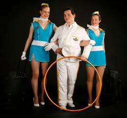 Blue air hostess costume