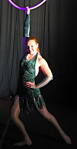 Green aerial costume