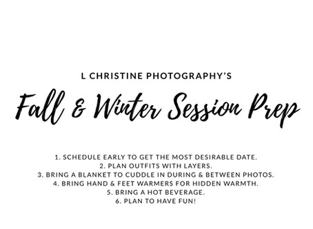 Preparing for Your Photo Session in Cold Weather