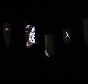 Screenshot of a motion design animation by freelance artist Taylor Sandell