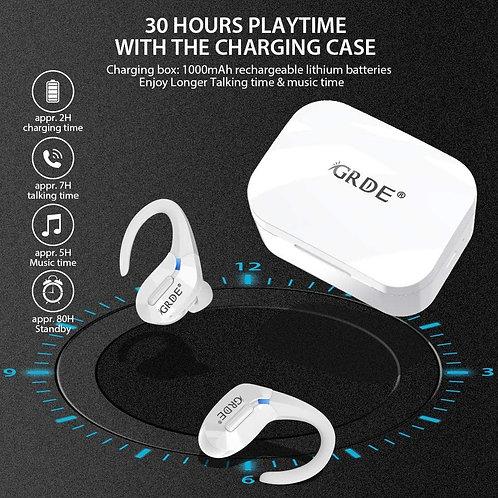 Écouteur Bluetooth Sport & Bureau : Étanche | Son Stéréo | Micro Haute Qualité