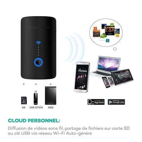 ROUTEUR sans fil portable + Lecteur carte mémoire, RAVPower FNAS  ...