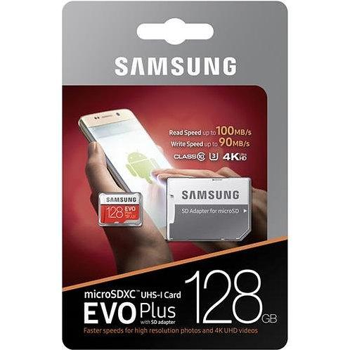 Carte Micro SD 128 Go Samsung EVO+ avec adaptateur - Transfert 4k Ultra Rapide .
