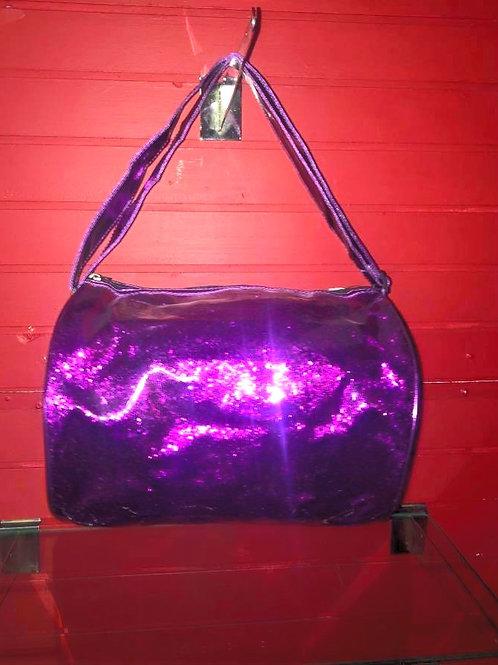 Purple Sequin Dance Duffle