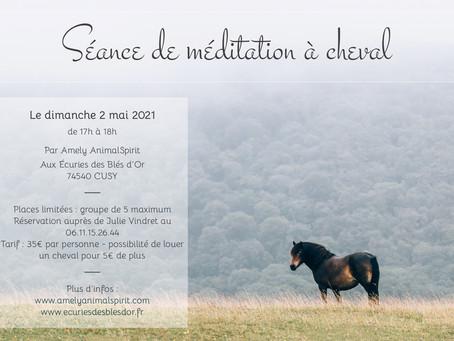 Séance de méditation à cheval le dimanche 2 mai 2021 à Cusy (74540)