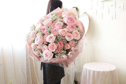 Pink O'hara garden roses