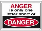 No anger...