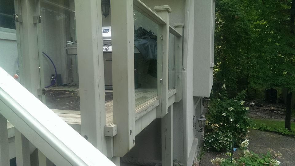 patio glass done on this huge deck