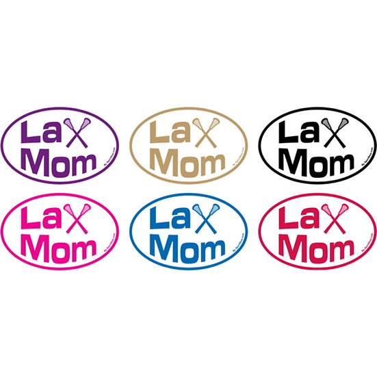 Oval 4x6 Lax Mom Lacrosse Sticker Decal