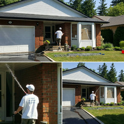 Siding cleaning in Baden, On