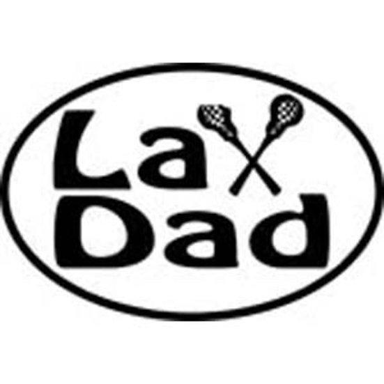 Oval 4x6 Lax Dad Lacrosse Sticker Decal