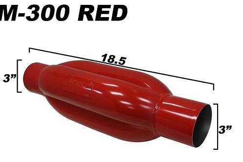 WickedFlow Kamikaze Muffler: KM-300 RED