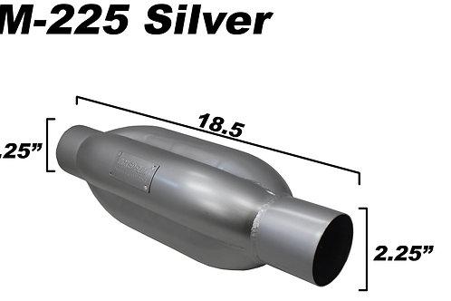 WickedFlow Kamikaze Muffler: KM-225 SILVER