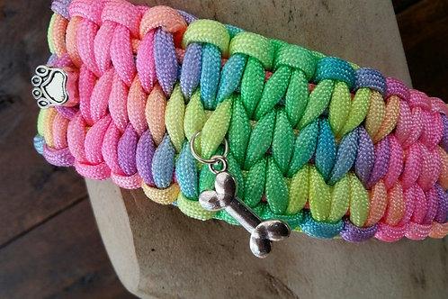 Regenbogen Paracord Halsband