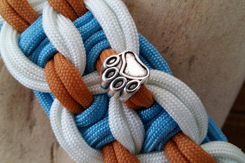 Tolles Paracord Halsband, Handgeknüpft