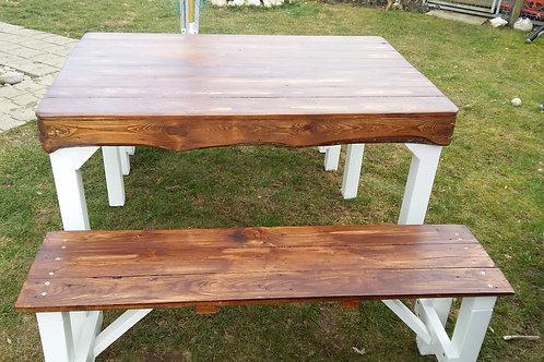 Old Style Tisch mit 2 Bänken