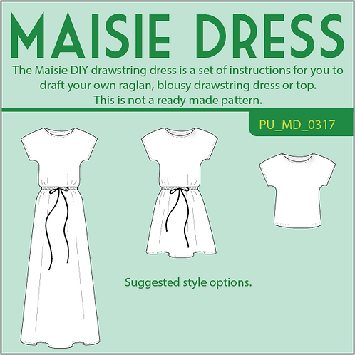 Maisie DIY drawstring dress
