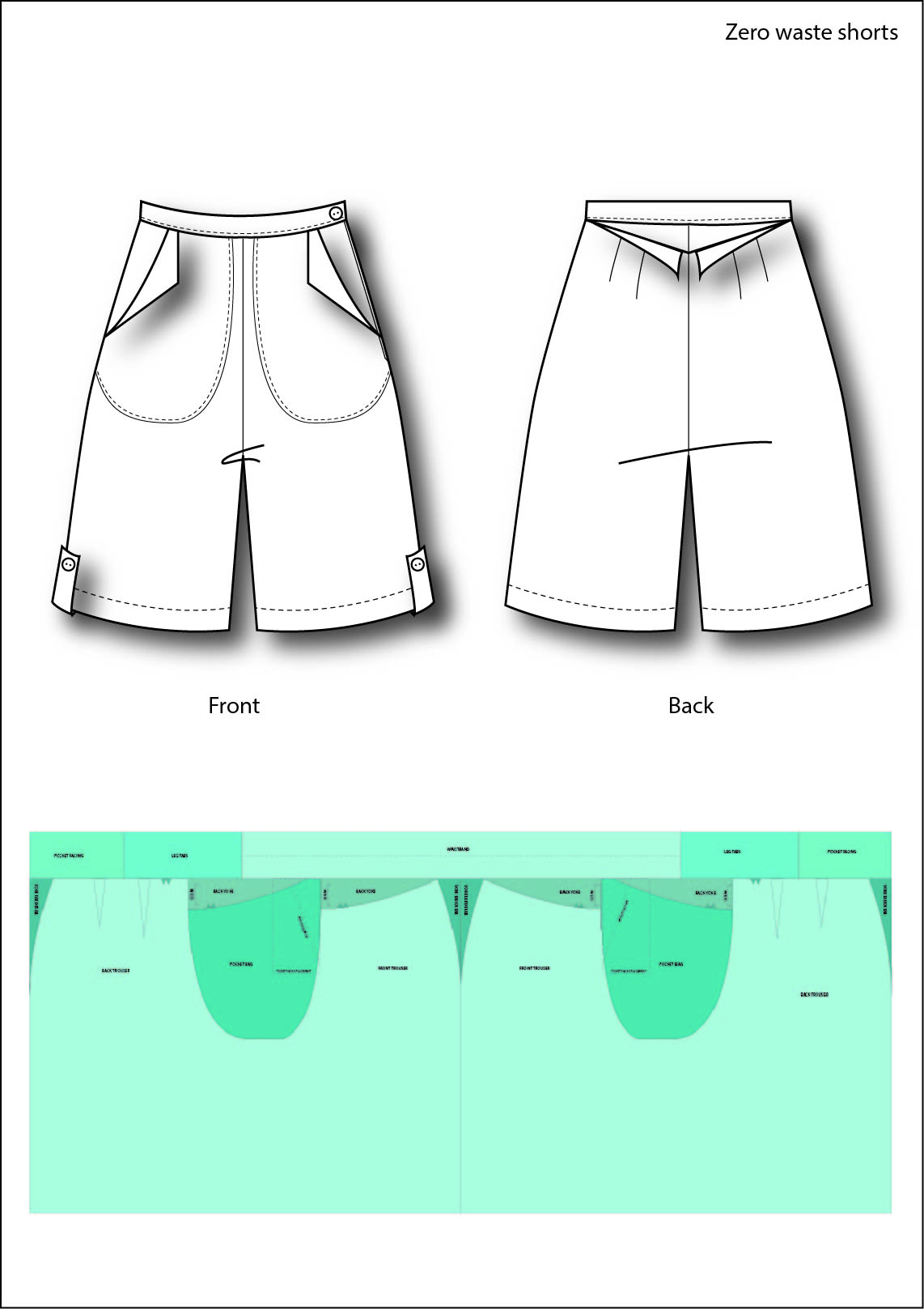 Tech drawing and pattern layout