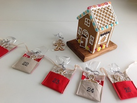 Christmas bunting with gingerbread
