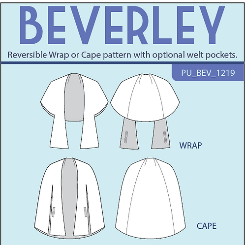 Beverley Wrap and Cape PDF pattern