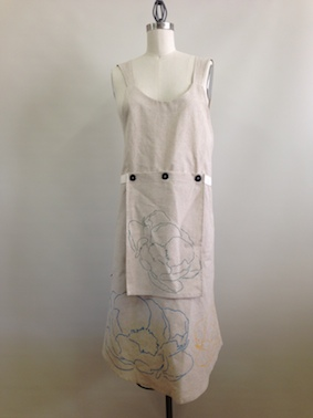 Workspace apron dress and hand towel