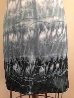 shibori dyeing and peony print