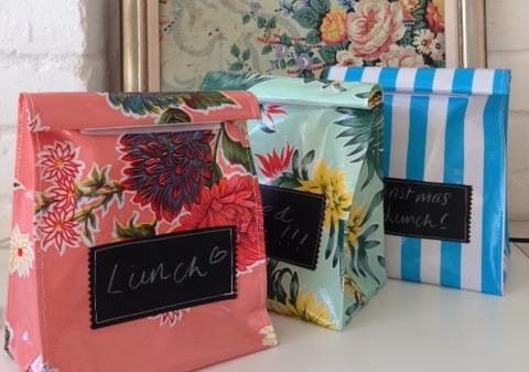 Workspace FADS  oilcloth lunchbags