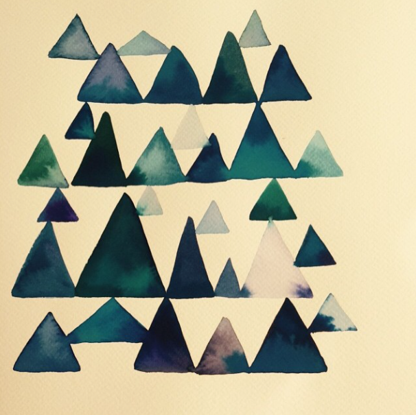 triangle watercolour