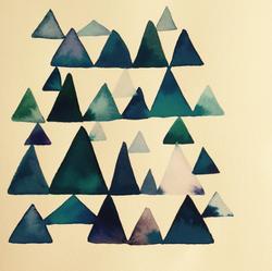 triangle watercolour