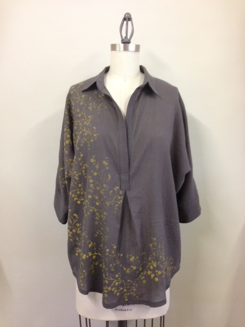 Basics shirt with wattle print