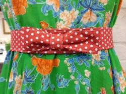 retro dress hand made belt